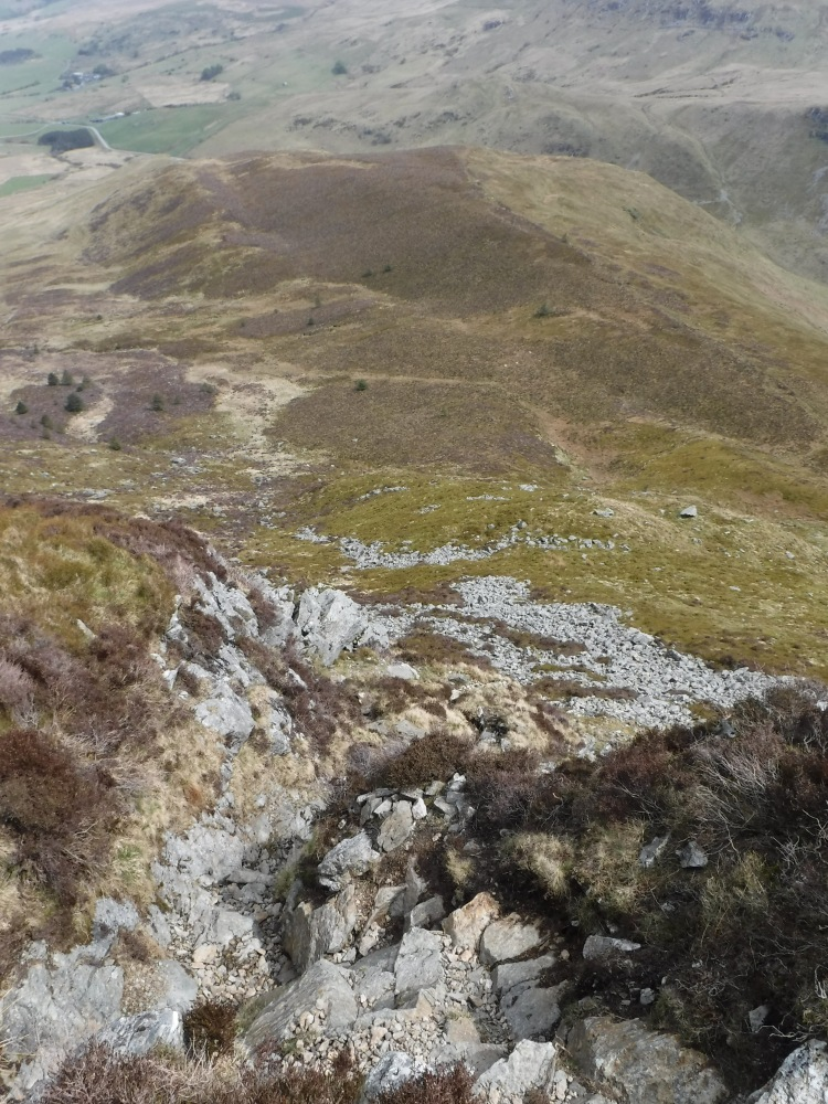Path on Cader Idris in Snowdonia North Wales with Mark Lewis