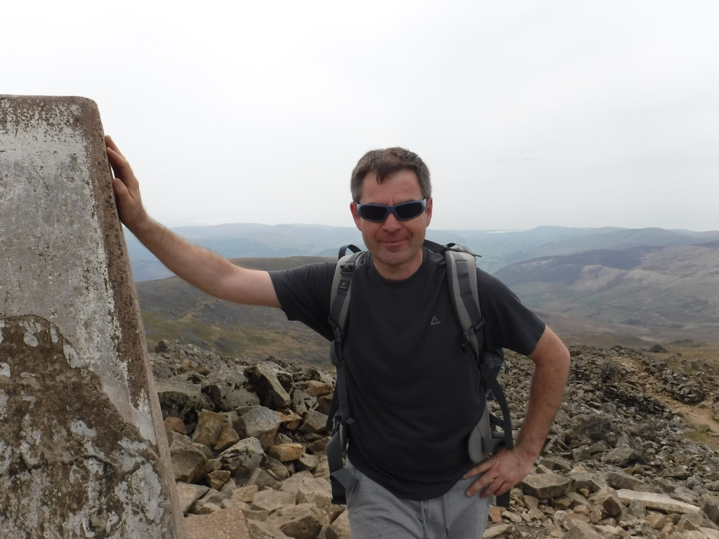 The Summit of Cader Idris in Snowdonia North Wales with Mark Lewis Diving & Mountaineering Instructor