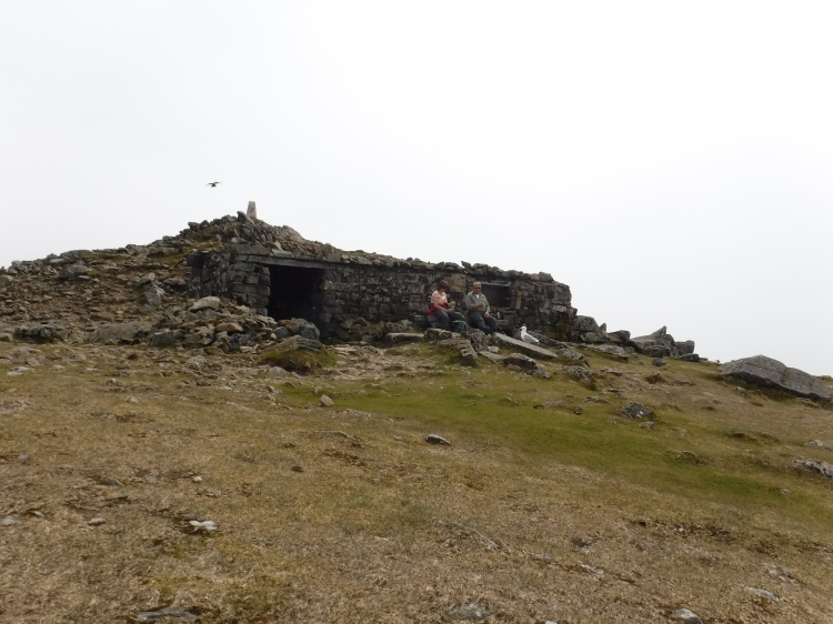 The Summit hut on Cader Idris in Snowdonia North Wales with Mark Lewis Diving & Mountaineering Instructor