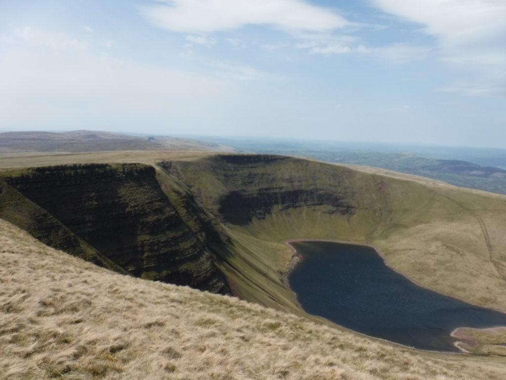 Fan Brycheiniog overlooking Llyn Y Fan Fawr in the Black Mountain