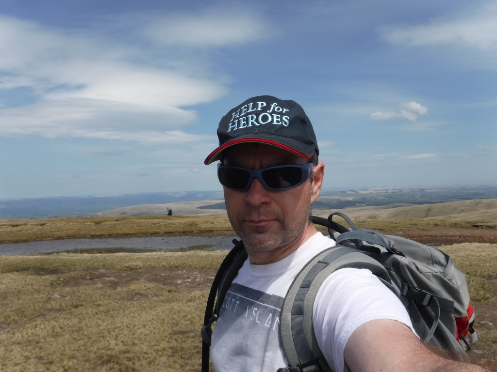 Mark Lewis on the ridge of Fan Brycheiniog