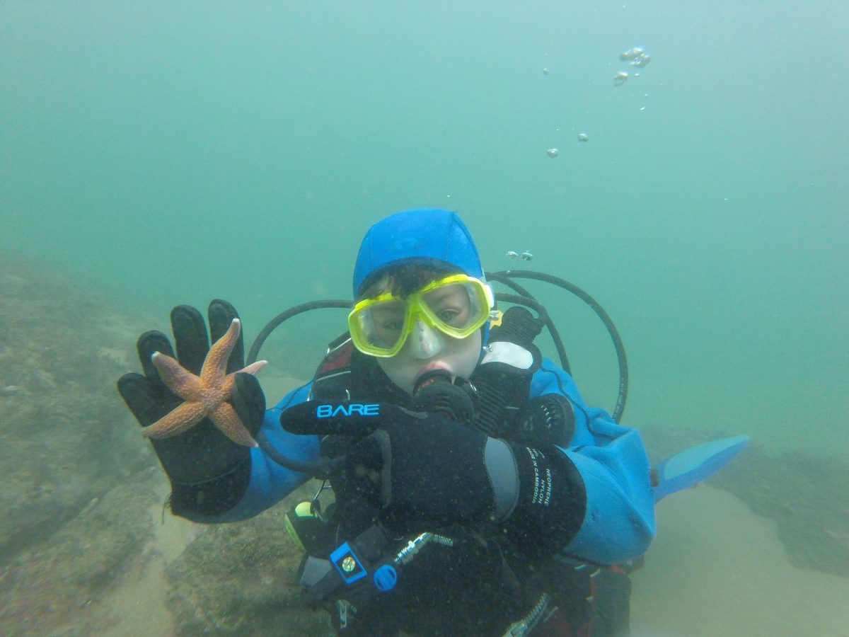 Teaching Research Divers course to 10yr olds