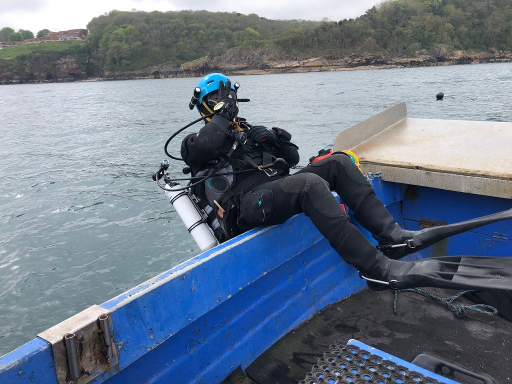 Rolling off a work boat