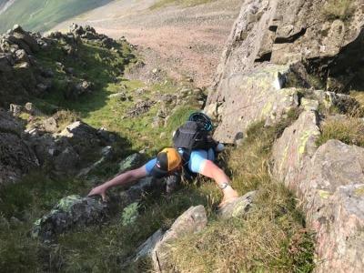 Great Gable via Sphinx Ridge.