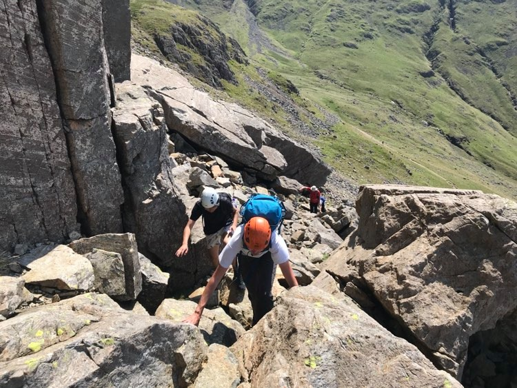 Great Gable via Sphinx Ridge and climbers Traverse.