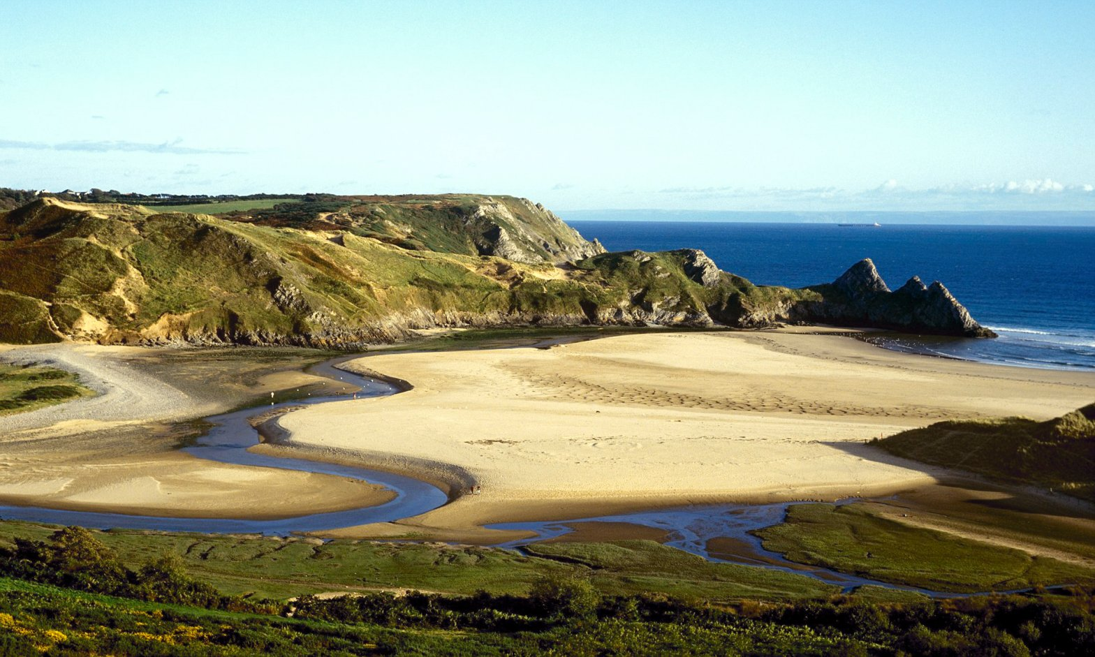 Three Cliffs Bay on the Gower Peninsular