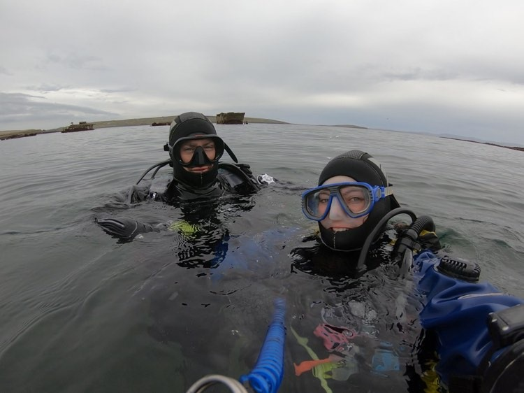 Churchill Barriers Diving in Orkney