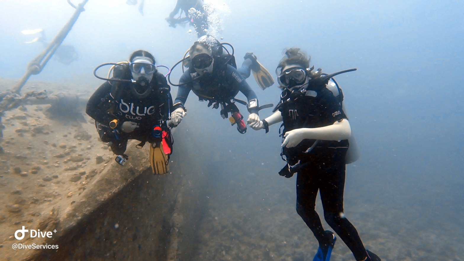 Family Adventure Days underwater