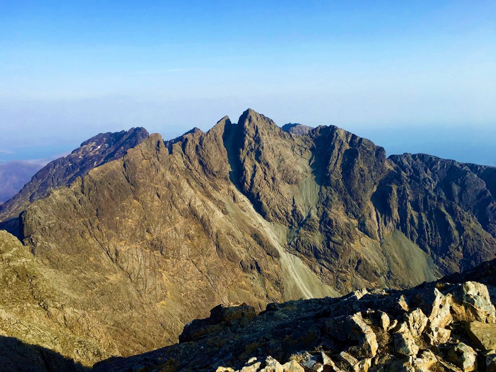 The Cuillin ridge on the Isle of Skye