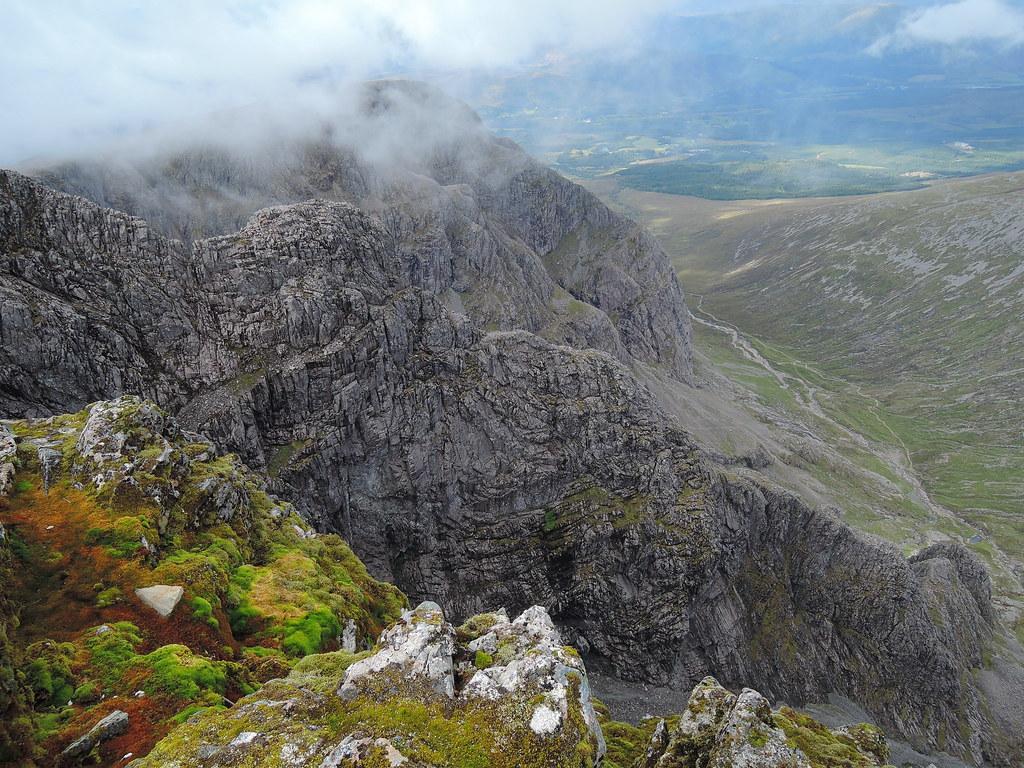Tower Ridge from the summit of Ben Nevis