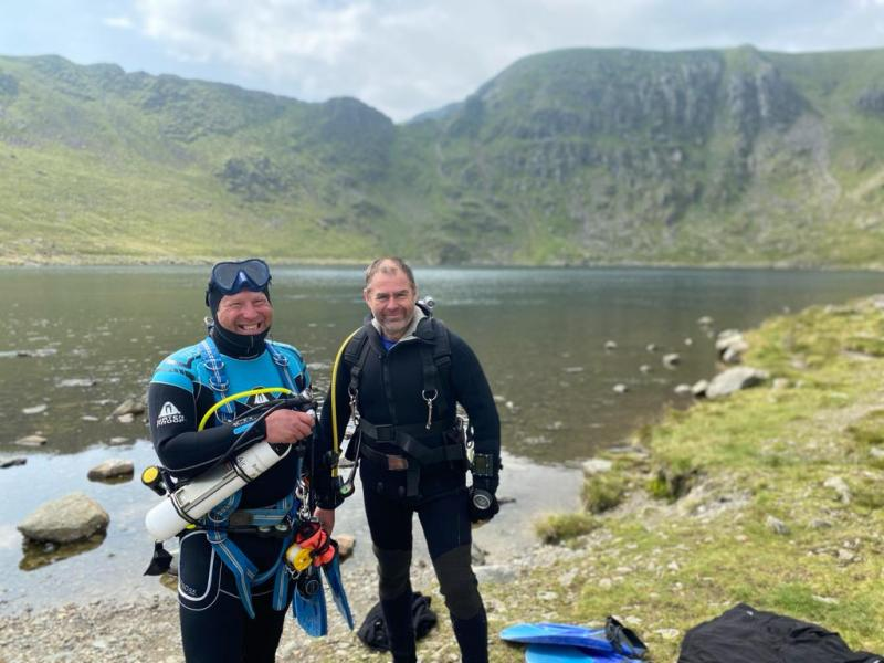 Altitude Diving in Red Tarn