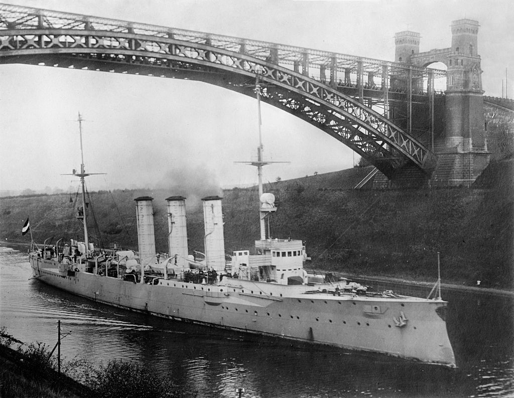 SMS Dresden German Cruiser in Scapa Flow